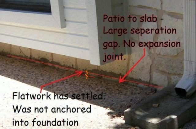 Patio To Slab Settlement