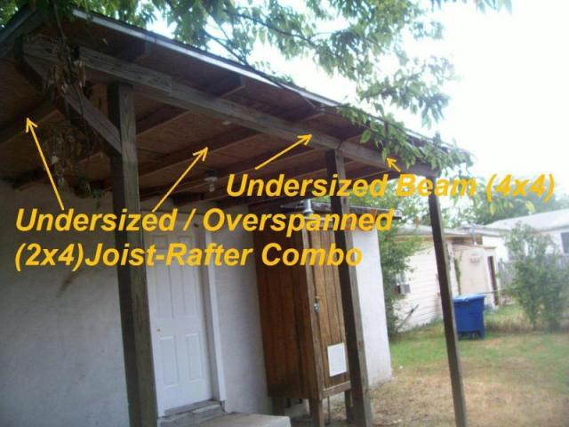Improper Covered Patio Framing JWK Inspections