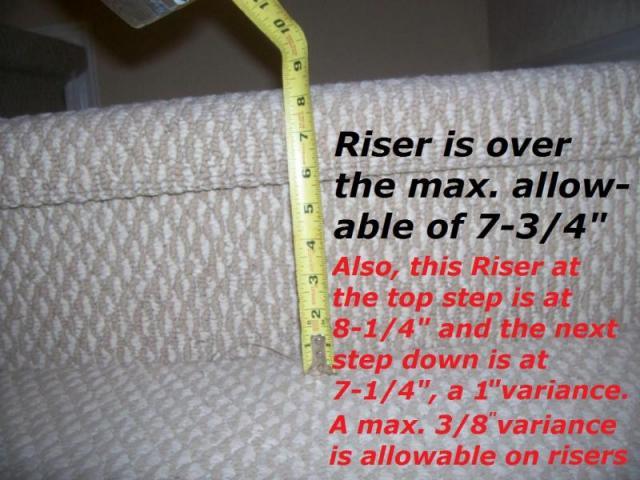 Stair riser height