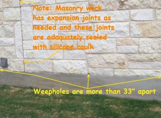 Masonry weep holes