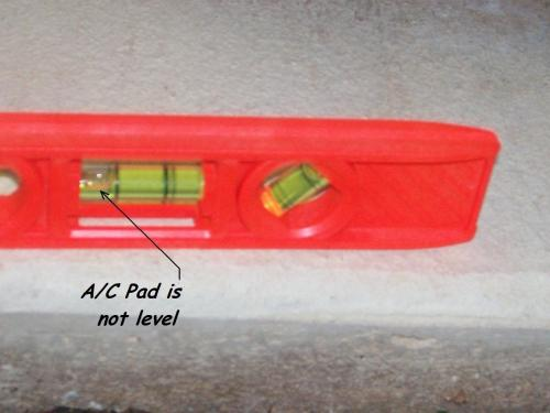 AC Pad not level