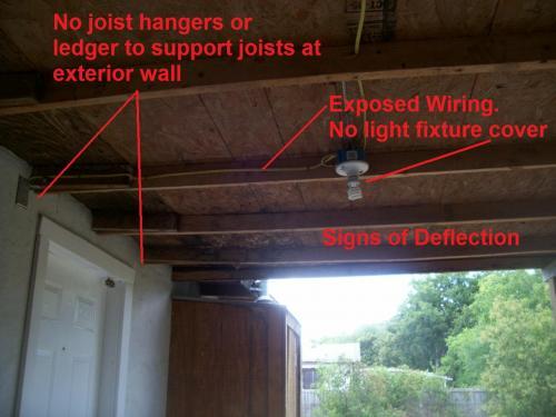 Improper Covered Patio Framing | JWK Inspections