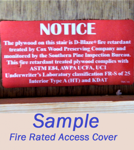 JWK Inspections Fire Rated Access Cover San Antonio Garage