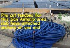 Precut post tension cables