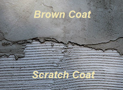 Stucco Scratch Coat Brown Coat