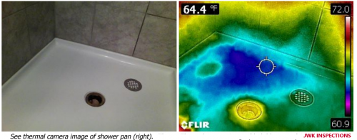 Thermal Imaging JWK Inspections Shower Pan