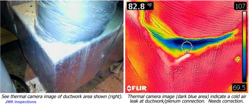 HVAC Thermal Imaging JWK Inspections AC Ductwork