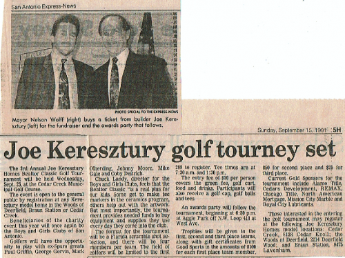 Joe Keresztury Hoes Golf Classic with Mayor Nelson Wolff