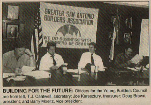 Young Builders Council 1990 Joe Keresztury Greater San Antonio Builders Association