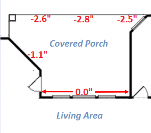 Zip Level Porch level slope survey